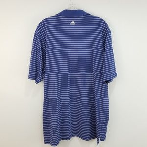 Camiseta ClimaLite de adidas hombre  AZUL blanco Striped Polo poshmark
